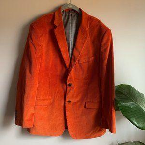 Saddlebred Burnt Orange Corduroy Sport Coat Sz 42R